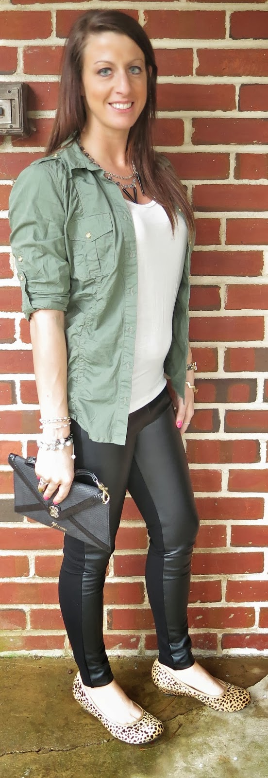leopard shoes, fashion, outfit, leather pants, hooter shoes, faux leather, leggings, earthy tones