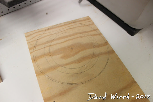 cut round groove in board, marble