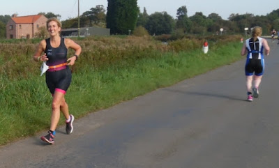 Lady runners' 5k section 5k of  the Keyo Brigg Sprint Triathlon 2017 on Sunday,  September 24