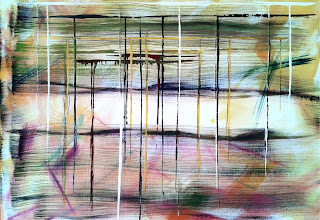 contemporary oil painting, gestural abstract, colorful art, abstract art, brushstrokes, dripping paint