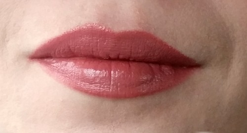 A photo of Barry M lip paint 169 worn