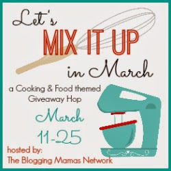 Hop through the Mix It Up in March Cooking/Food-themed Giveaway Hop. Ends 3/25.