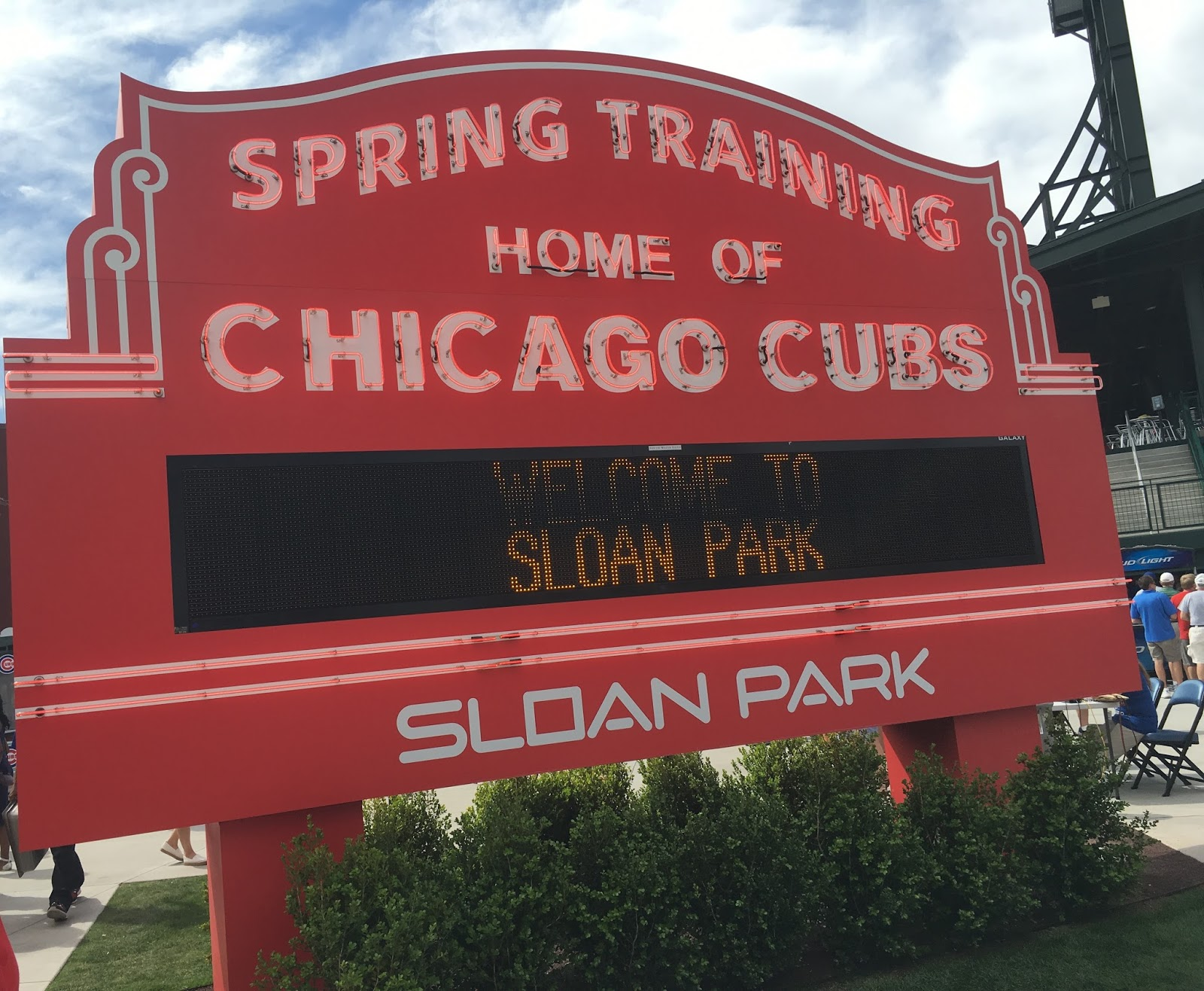 Sloan Park Sign