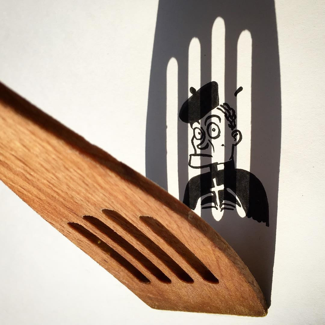 11-Wood-you-like-to-confess-Vincent-Bal-Drawing-with-Shadows-of-Everyday-Things-www-designstack-co