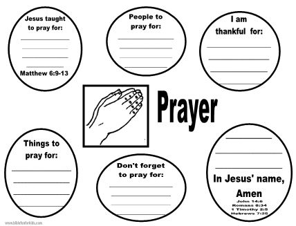 Bible Fun For Kids: Cathy's Corner: Where Can I Pray? Flip