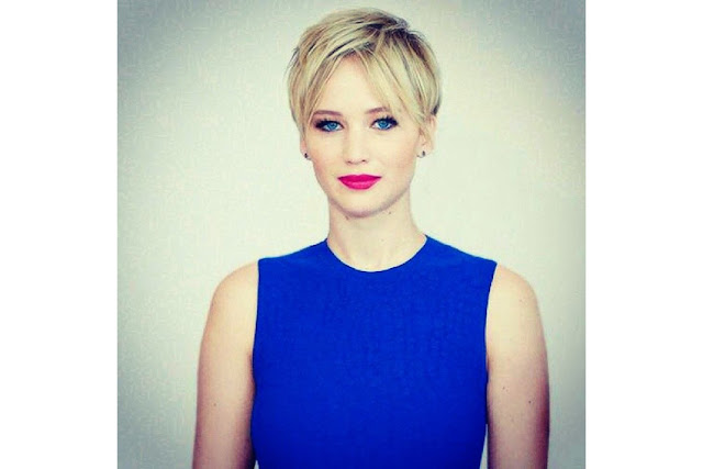 Jennifer Lawrence blue