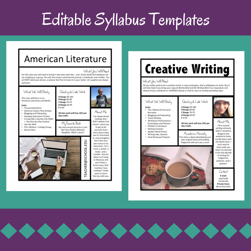 I Ve Taken The Liberty Of Designing Some Editable Syllabus Templates For You To Sd Up Process If Decide Have Me Send This Free