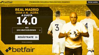 betfair supercuota victoria del Real Madrid al Al Jazira 13 diciembre
