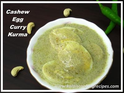 cashews egg kurma curry