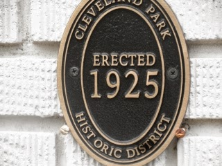 Plaque noting 1925 date for home construction