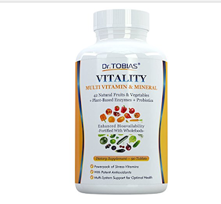 Dr. Tobias Multivitamin & Mineral Plus Enzymes – Enhanced Bioavailability – With Wholefoods & Herbal Ingredients – Rich in B Vitamins & C – Non-GMO