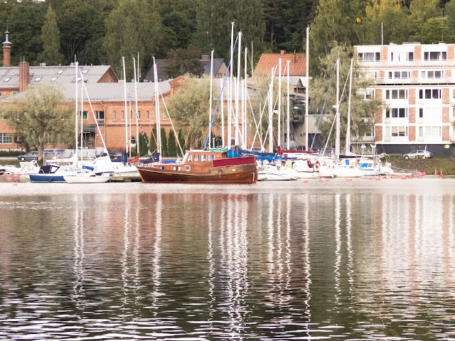 Finland summer road trip: Harborside walk on a road trip pitstop in Lappeenranta Finland
