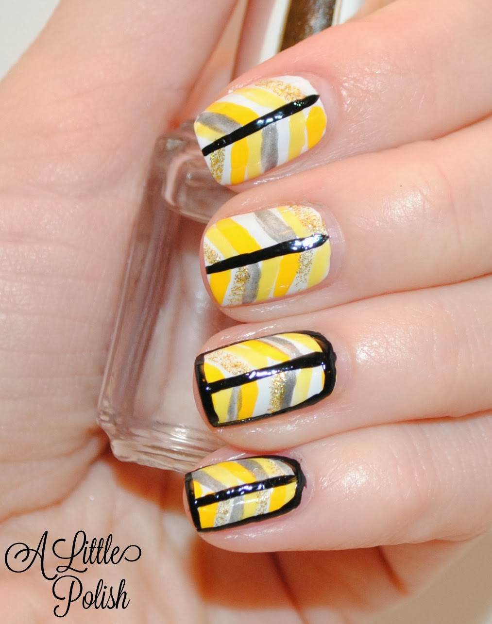 A Little Polish: Pittsburgh Sports Themed Nails