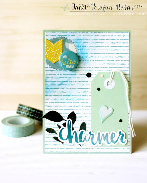 Charmer Card by Janet Perafan-Babar: Clique Kits Northern Lights May 2016 Kit | My Favorite Things Holiday Traditions Elements