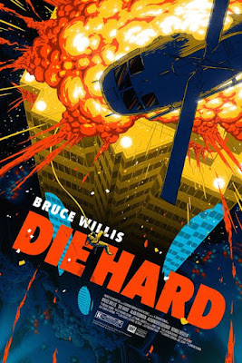 Die Hard Movie Poster Fine Art Lithograph Print by Florey x Dark Ink Art