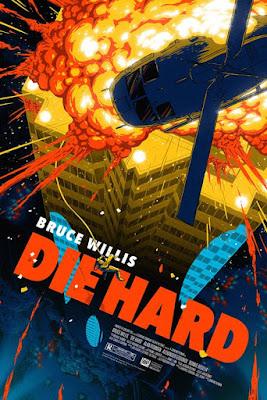 Die Hard Movie Poster Fine Art Lithograph Print by Florey x Dark Ink Art