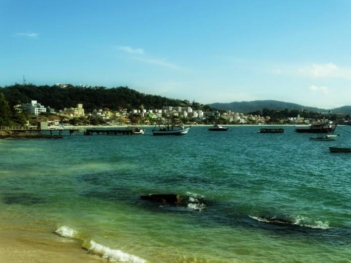 Praia da Lagoinha, em Bombinhas