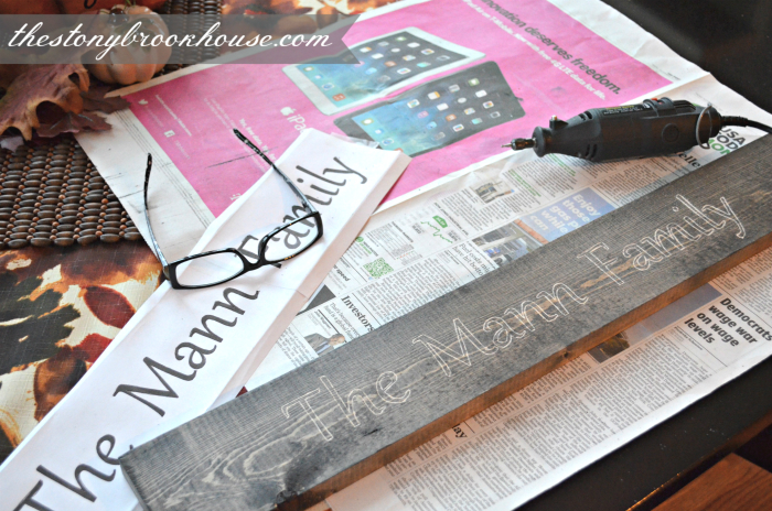Tracing and outlining the name