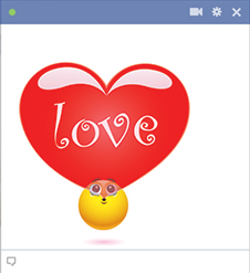 Facebook Emoticon Blowing a Heart Bubble
