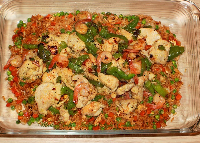 how to make chicken and shrimp easy stir fried rice
