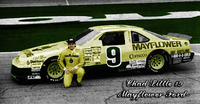 Chad Little #9 Mayflower Melling Ford Thunderbird NASCAR racingchampions.blogspot.com