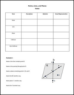 the best of teacher entrepreneurs ii free math lesson geometry worksheet points lines and. Black Bedroom Furniture Sets. Home Design Ideas