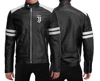 Gambar Jaket Kulit Bordir Logo Juventus