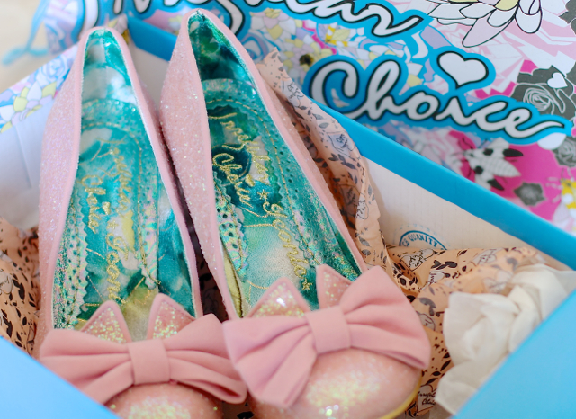 Irregular Choice Nick of Time shoes in pink
