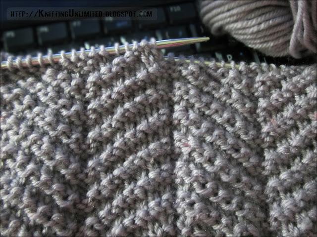 Knit - Purl Combinations: Herringbone Texture