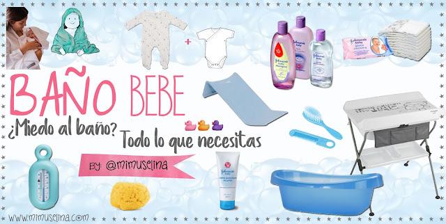 miedo al baño recién nacido, todo para el baño bebé, blog mimuselina baño