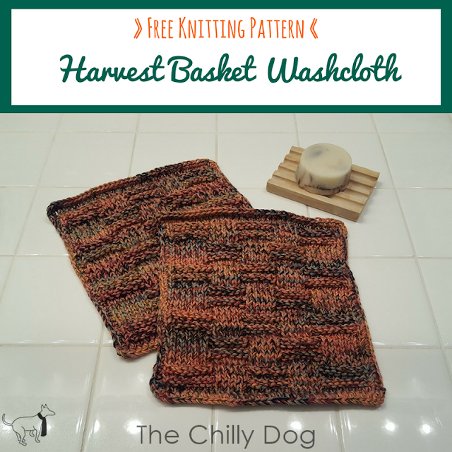 Free Harvest Washcloth Knitting Pattern: easy to knit washcloth pattern for beginners