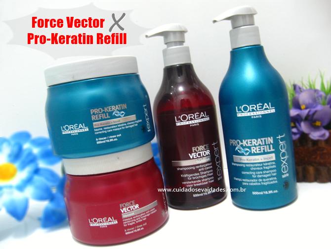 Force Vector x Pro Keratin Refill Loreal