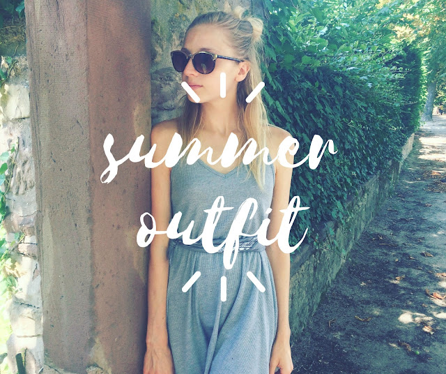 summer outfit grey dress minimalist fashion