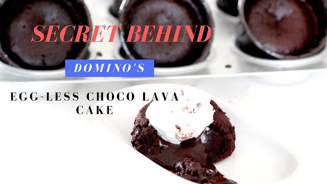 Dominos Choco Lava Cake Recipe - Molten Lava Cake - Eggless Chocolate Lava Cake