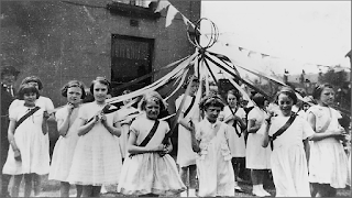 Maypole Dancers at St Augustine's Church, Tonge Moor