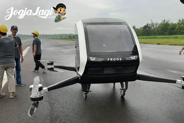 Waw Hebat, Taxi Drone Karya Start Up Bantul Yogyakarta