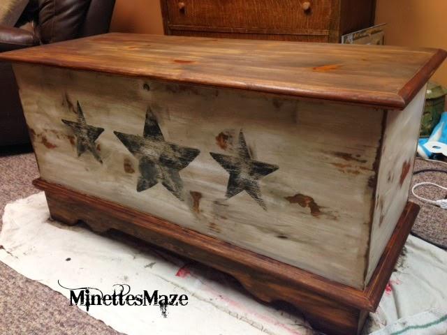Minettesmaze Refurbished Cedar Chest