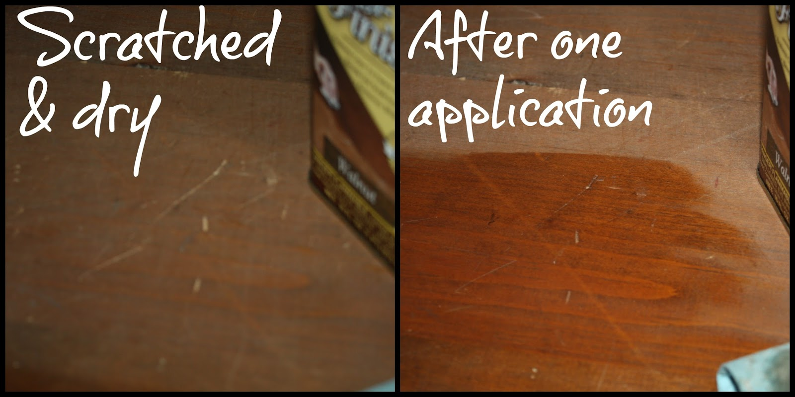 Reconditioning the wood with Restore-A-Finish