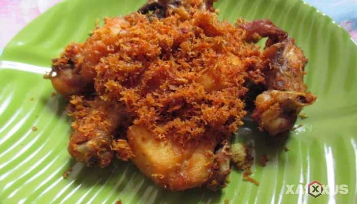 Resep cara membuat ayam serundeng sunda