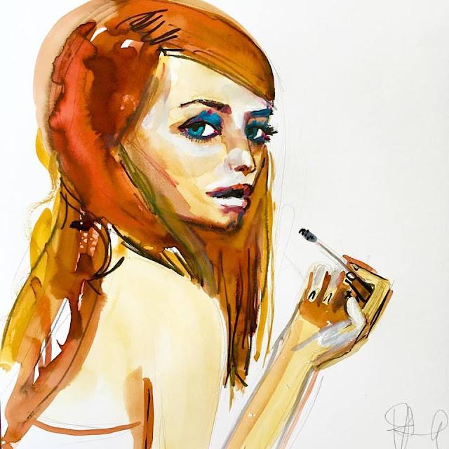 marissa cooper watercolor painting mischa barton