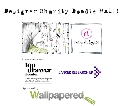 Charity doodle wall project with Rachael Taylor & Wallpapered.com at Top Drawer