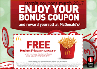 Mcdonalds coupons march