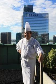 David Garcelon im Dachgarten des Royal York Hotels in Toronto