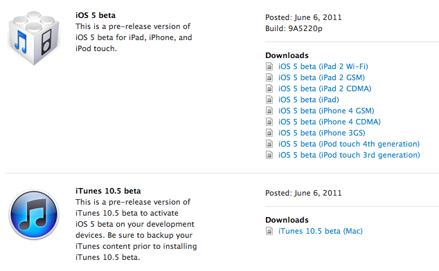 mac and i: WWDC - iOS 5 ready to download (iTunes 10 5 as well)