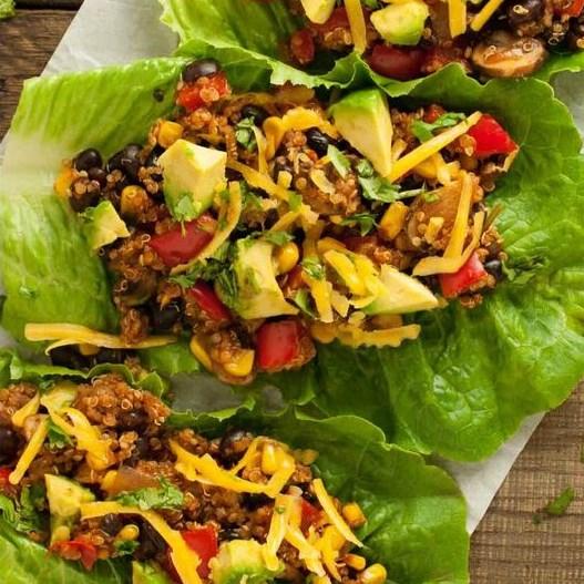Taco Vegetarian Lettuce Wraps #Taco #Vegetarian