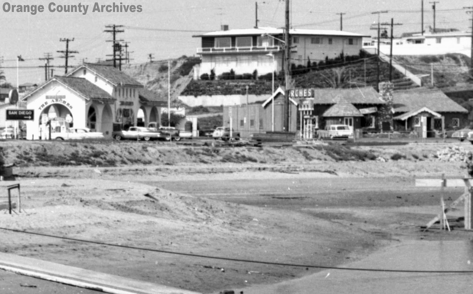 A View Of The Arches From Across Highway Circa 1955