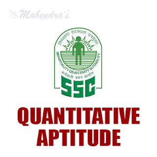 SSC Quiz : Quantitative Aptitude | 11 - 11 - 17