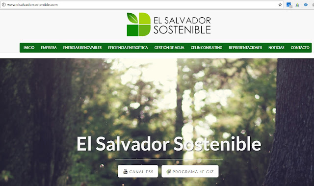Sitio web de El Salvador sostenible