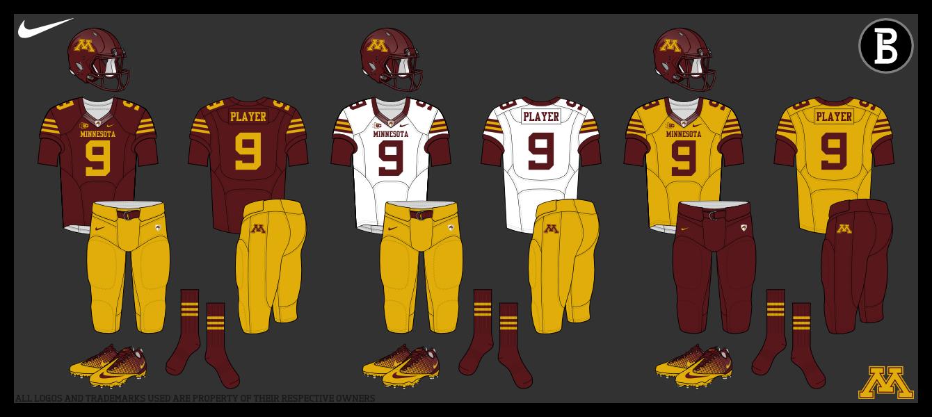 reputable site 5f19e 981ad Bmac's Blog: Minnesota Golden Gophers Football Uniforms