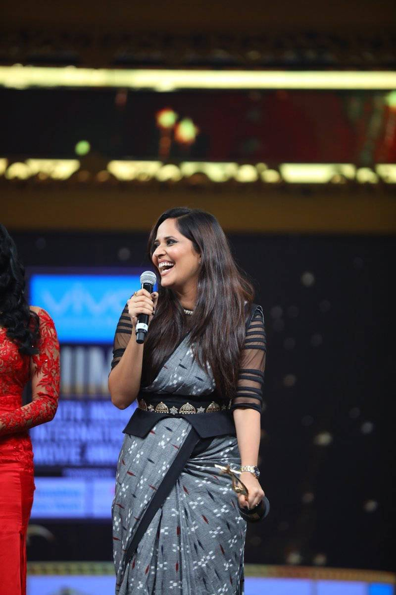 Actress Anasuya Bharadwaj Photos At SIIMA Awards 2017